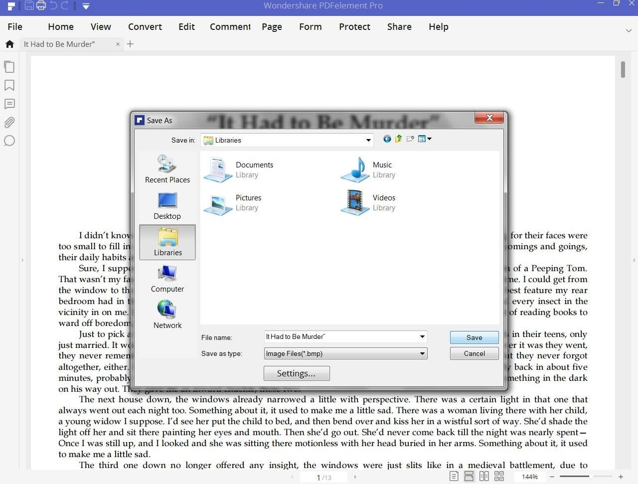 convert pdf to bmp desktop