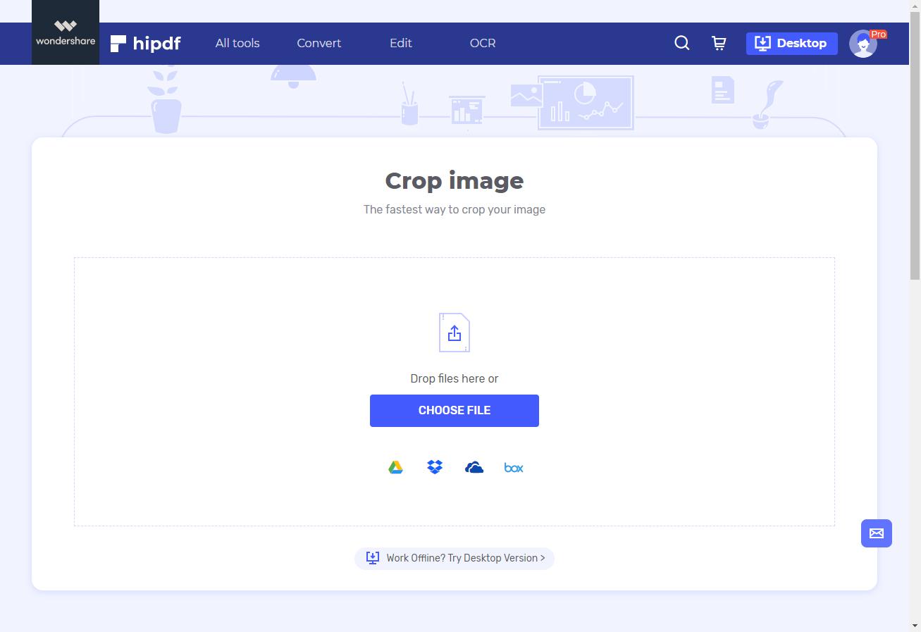 crop image tool
