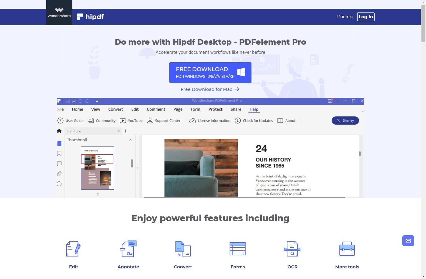desktop page