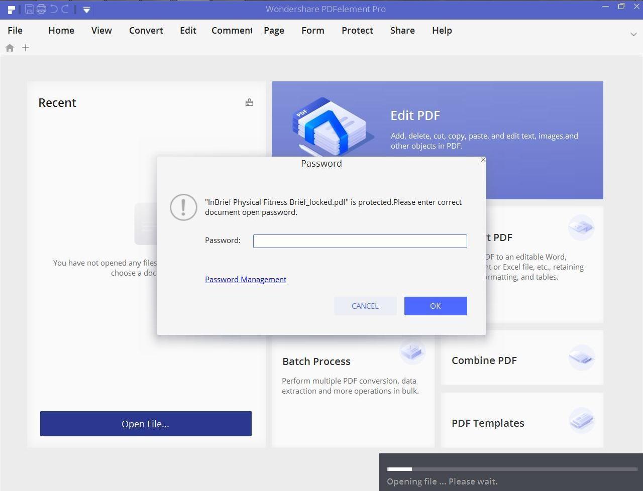 input password desktop