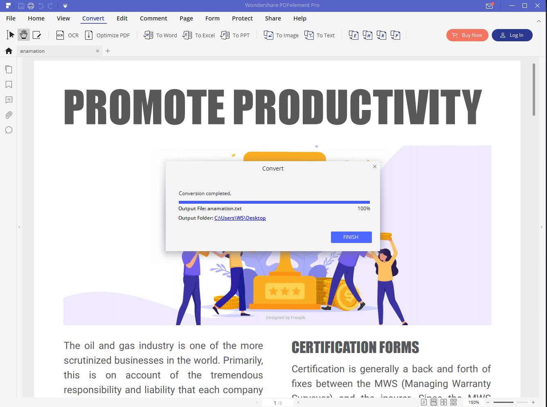 pdf to text process