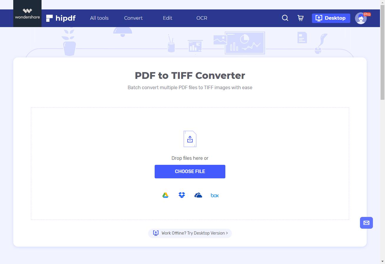 PDF to TIFF convertor