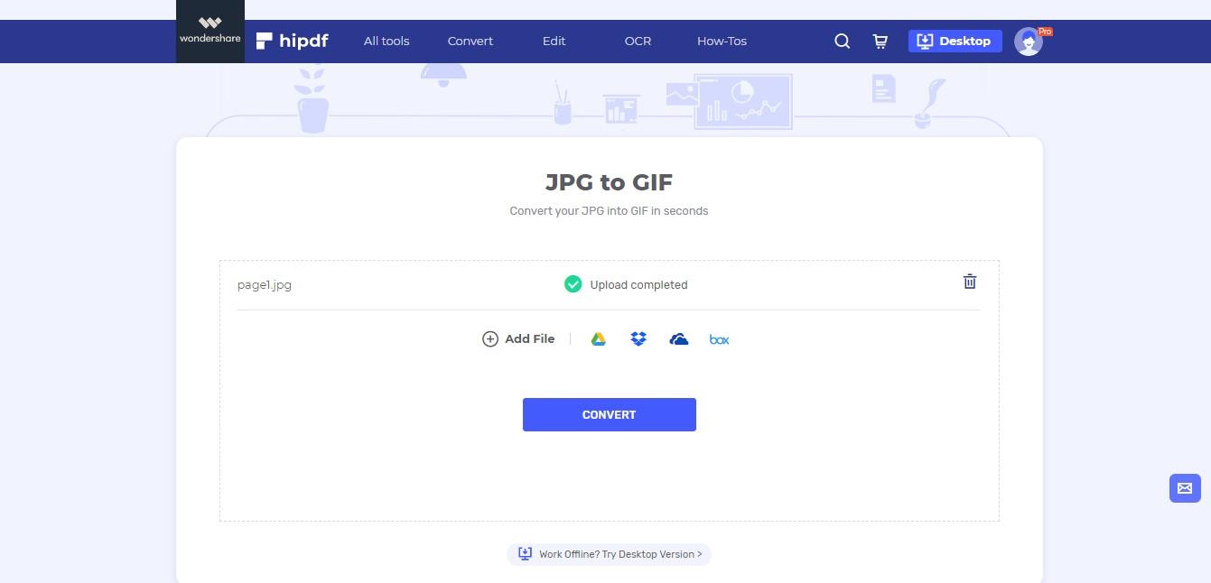 upload jpg to gif