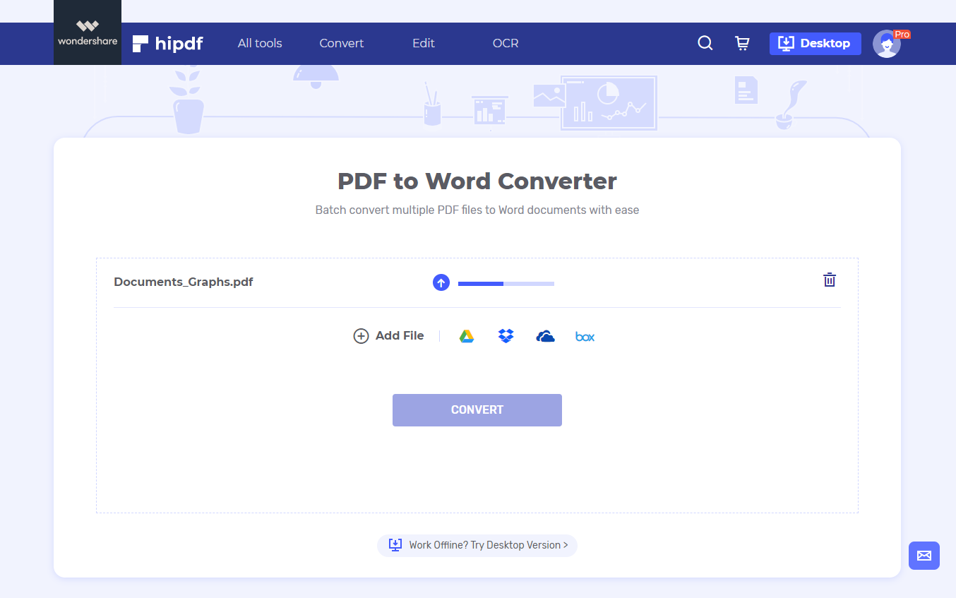 Upload pdf process