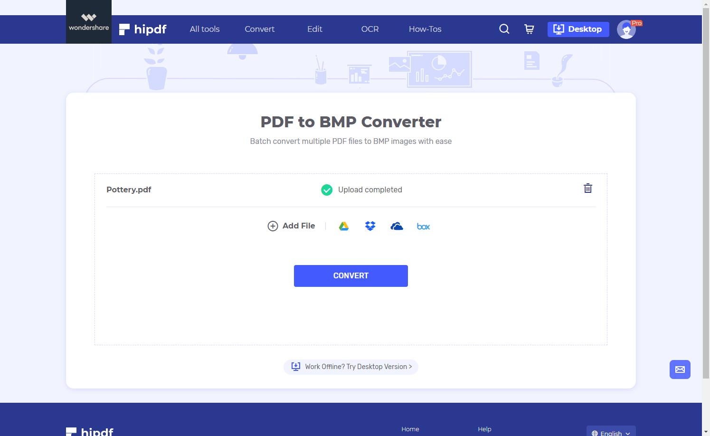 upload pdf to bmp