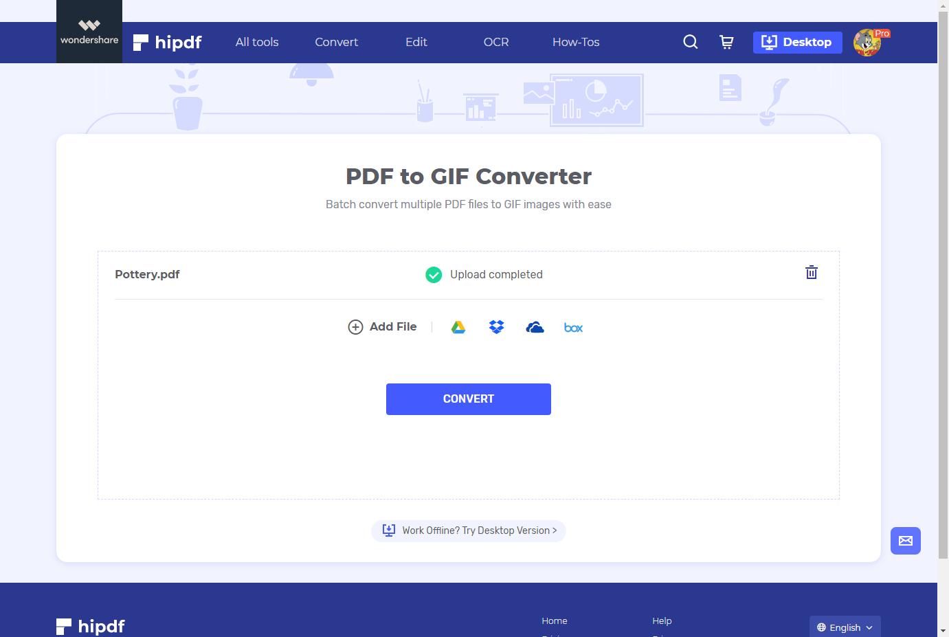 upload pdf to gif