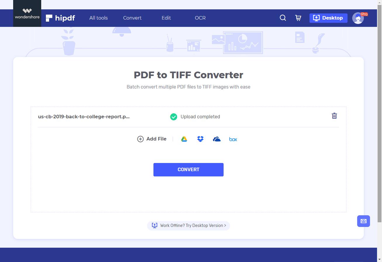 convert PDF to TIFF