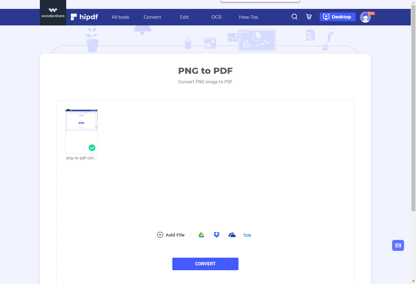 upload png to pdf