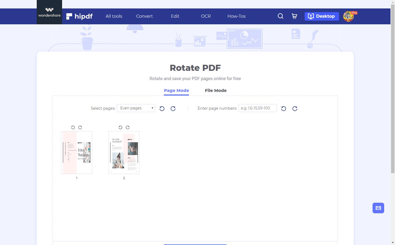 upload rotate pdf