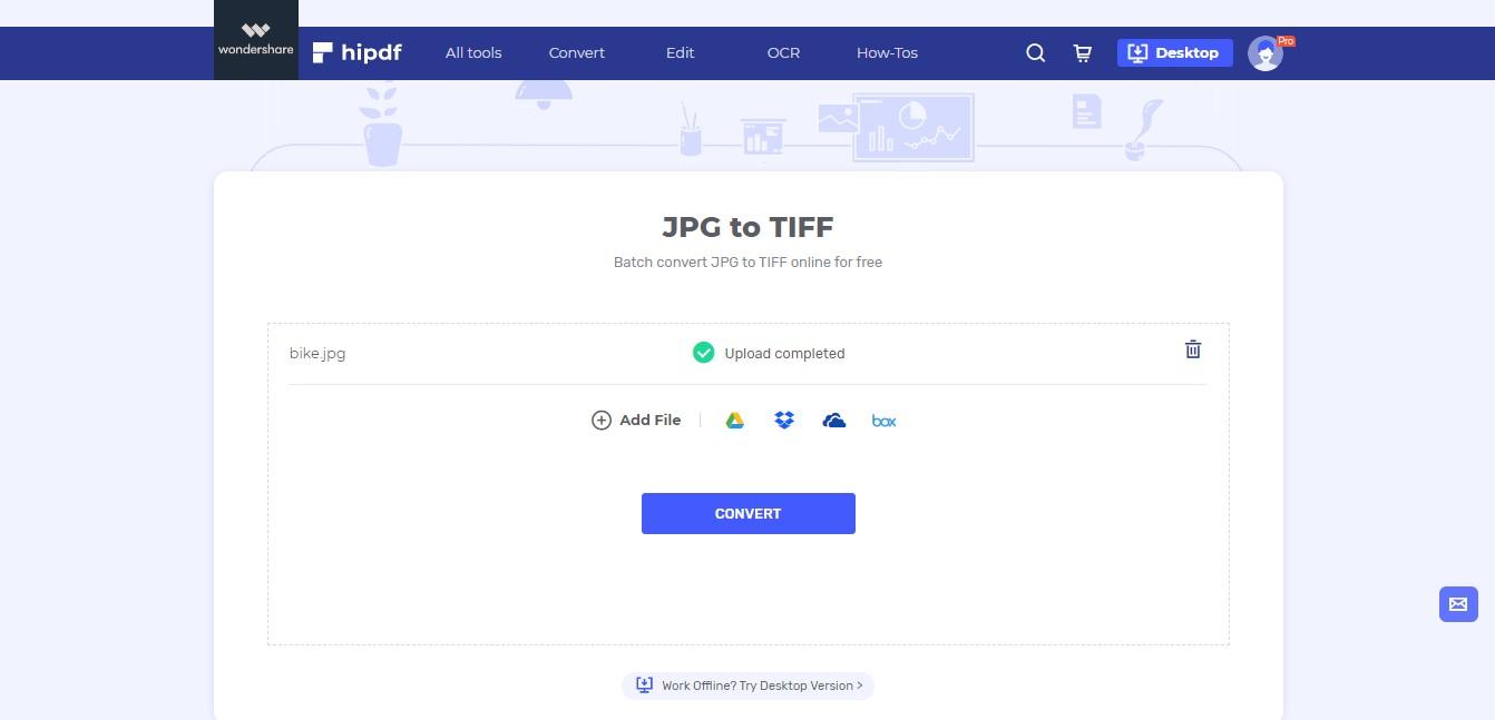 upload tiff to jpg