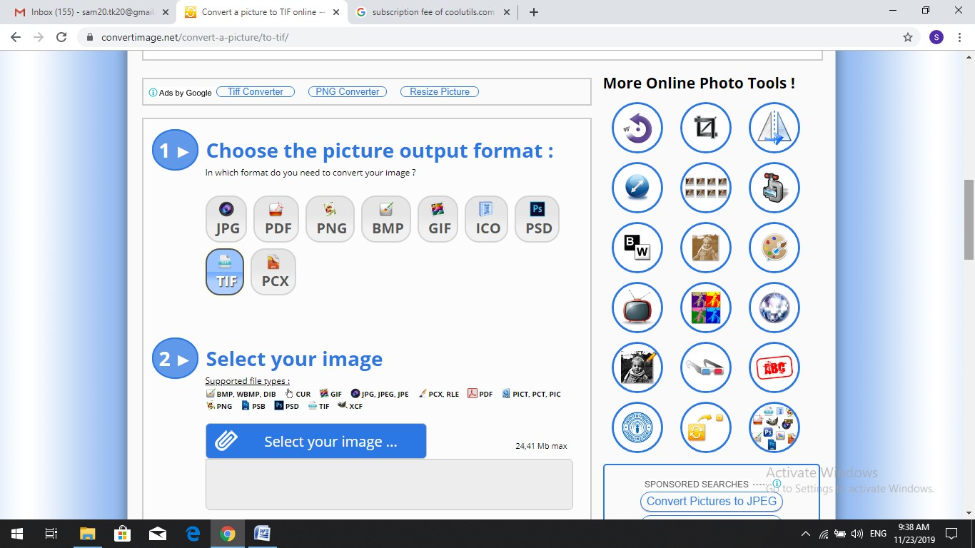 convertimage jpg to tiff converter