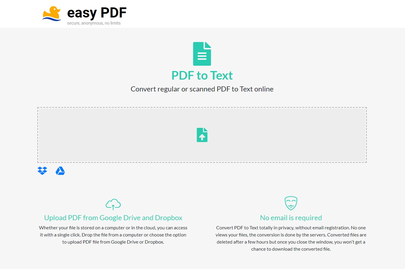 easypdf pdf to text converter