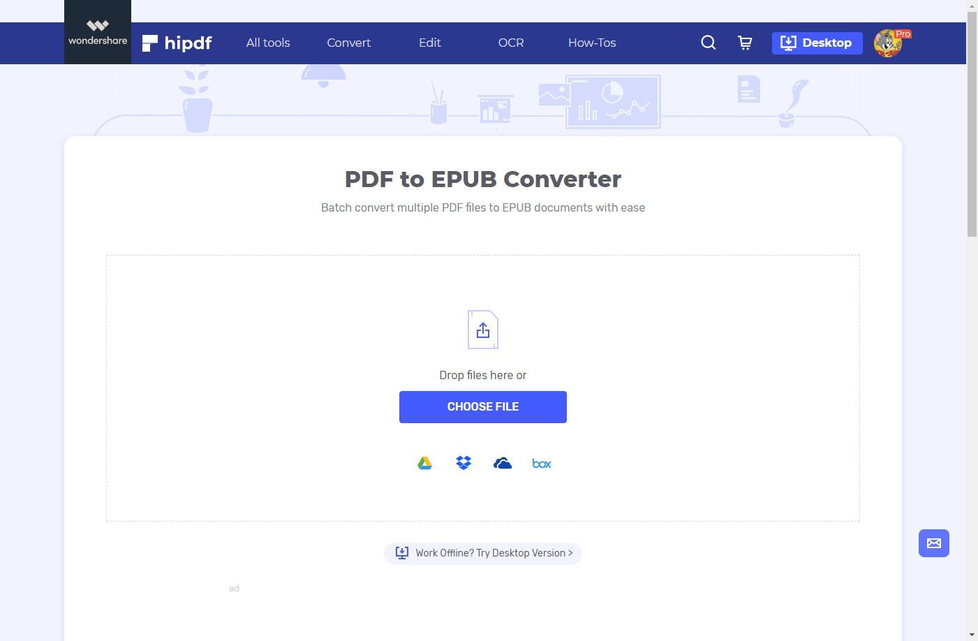 hipdf pdf to epub converter