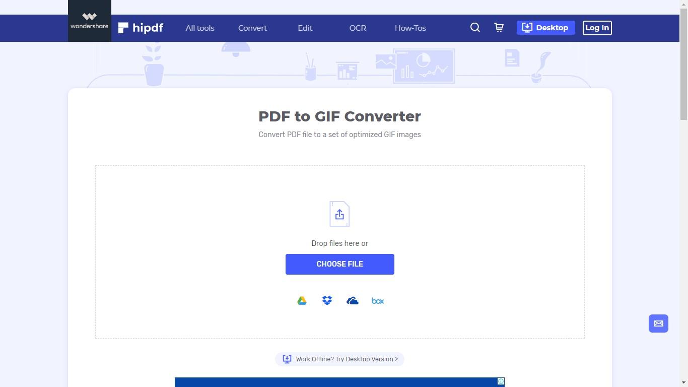 hipdf pdf to gif converter