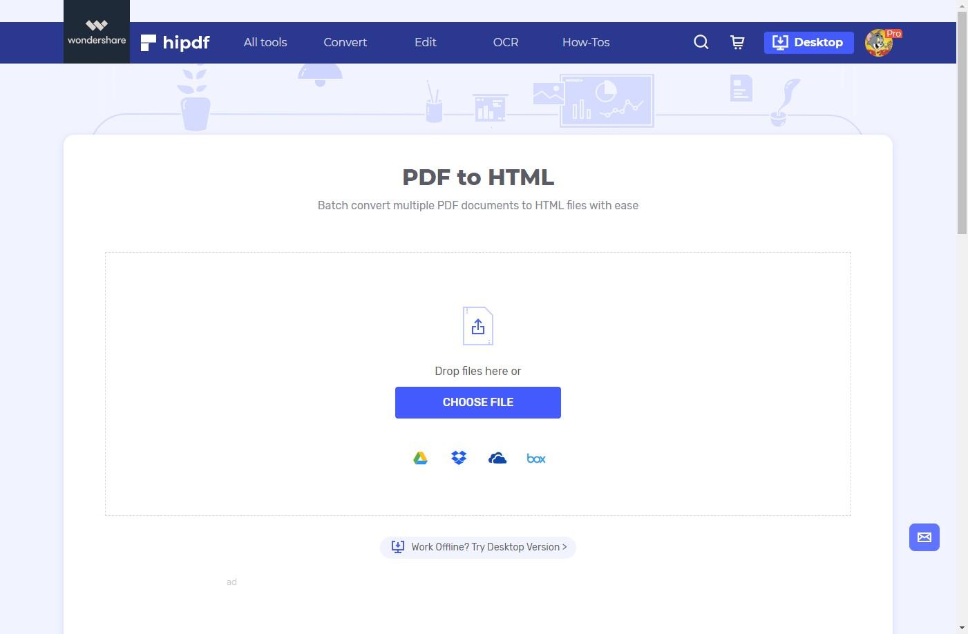 hipdf pdf to html converter