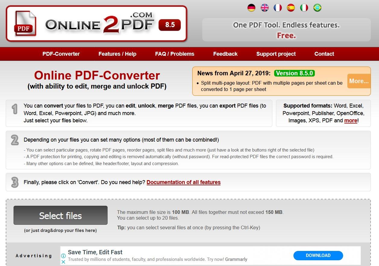 online2pdf pdf to epub converter