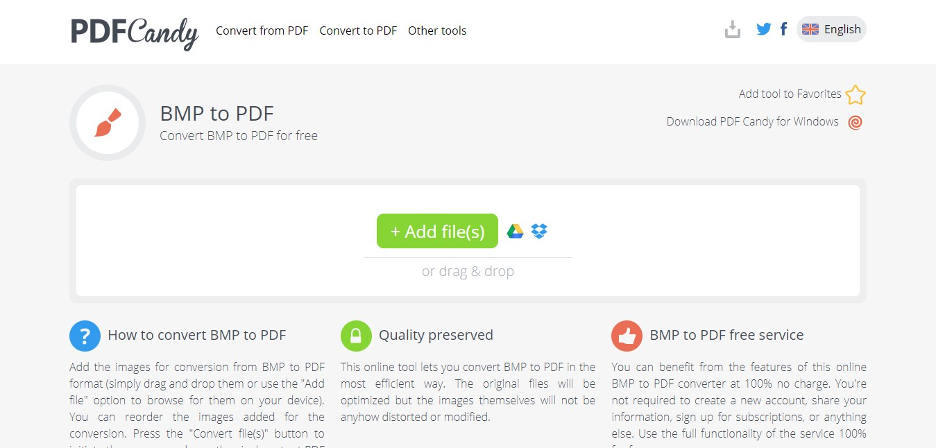 pdfcandy bmp to pdf converter