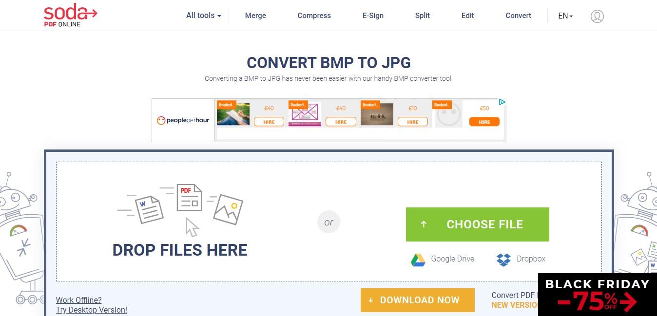 sodapdf bmp to pdf converter