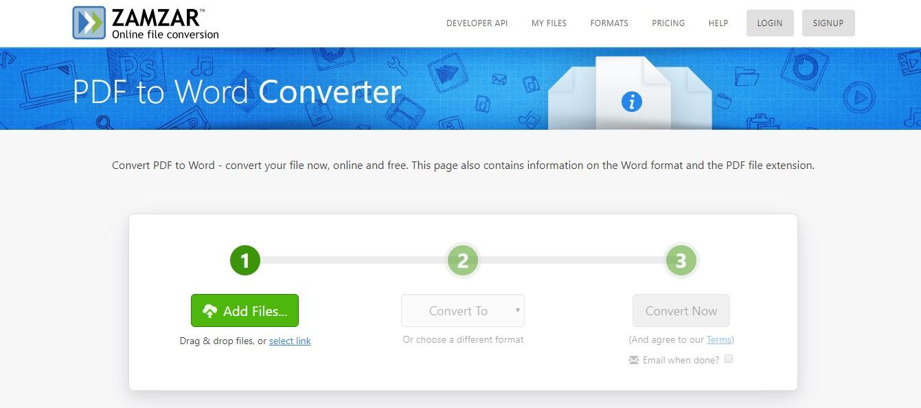 zamzar bmp to pdf converter online